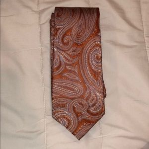 Michael Kors men's tie - orange antique swirl